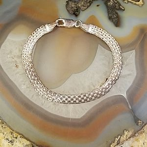 Vintage Italy silver woven silver bracelet GUC